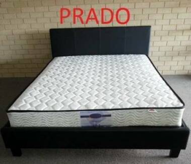 Double Size PU Bed Frame & Med/Firm Pocket Sprung Mattress