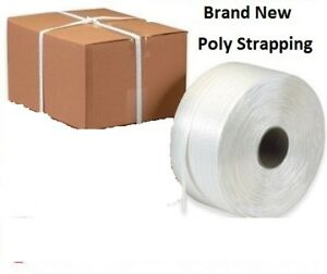 """Brand New rolls 1/2"""" Poly strap , roll is approx 7000ft"""