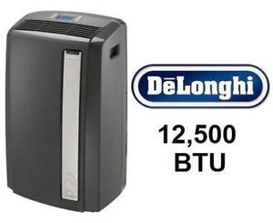 NEW* DELONGHI AIR CONDITIONER PACAN125HPEKC 200129942 12,500 BTU Portable HEAT PUMP HEATER