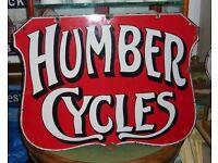 Wanted old advertising metal sign shop antique vintage motor enamel