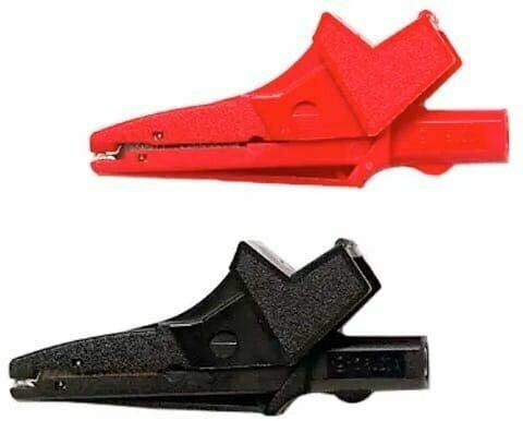 Pomona 6041B Alligator clip/extra large for DMM plugs, banana plug patch cords