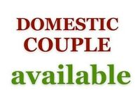 Domestic COUPLE AVAILABLE: Housekeeper / gardener / Cook / Driver