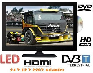 12/24 Volt 220V LCD LED HD TV 15,6