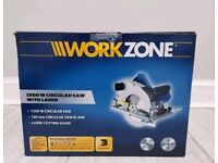 Workzone Circular Saw With Laser x2 190mm Saw Blades Incl