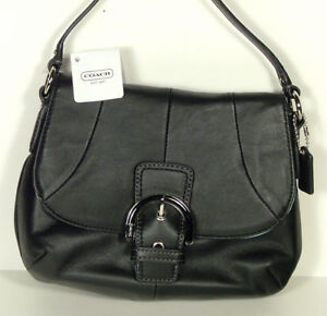COACH SM BLACK LEATHER SHOULDER STRAP PURSE HANDBAG NWT $168 MODEL# F45664