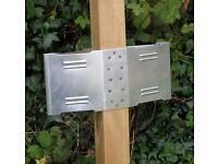 New Unused with Packaging - Steadypost FenceFins Square Fence Post Anchoring System x2 - For Garden