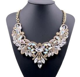 Crystal necklace big statement choker brand new Christmas xmas gift present