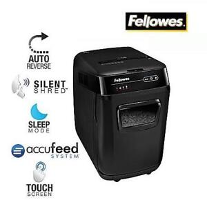NEW FELLOWES AUTO FEED SHREDDER - 126792704 - HANDS-FREE SHREDDING BLACK