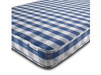 BASIC MATTRESS CHEQUERED 2FT6,3FT SINGLE,4FT ,4FT6 DOUBLE MATTRESSE (Next day delivery)