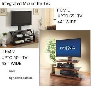 Z-LINE FIORE / INSIGNIA WATERFALL TV STAND , TV BENCH WITH MOUNT