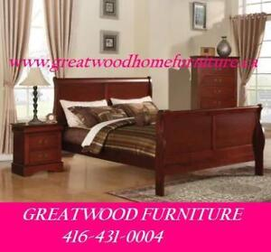 ** QUEEN SIZE SOLID WOOD BED FRAME + NIGHT TABLE FOR $399 **