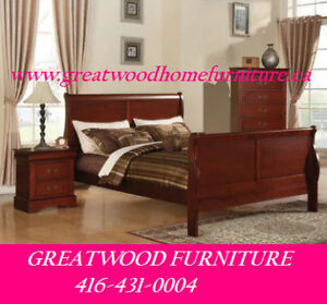 BRAND NEW SOLID WOOD BED + 1 NIGHT TABLE FOR $399 ONLY..$399.00