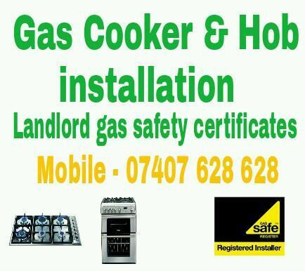 Gas Engineer Plumber Cooker And Hob Installation