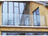 Glass balustrade, Glass partitions, Toughened glass, Frameless Glass balustrade