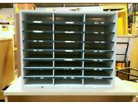 8x3 Organizer Wooden Frame and Cardboard Shelves ! 73cmH/60cmW/30cmD