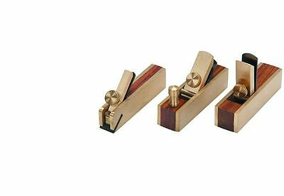 3 Piece Micro Mini Brass Hand Plane Set Wood Planer Hardwood Hobby Scrapper