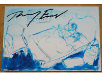 TRACEY EMIN - 'Last in love' - hand signed exhibition card - c2012 (Damien Hirst interest)