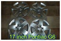 Used OEM Pontiac G6 Hub Caps - 17 inch