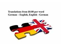 German - English translations