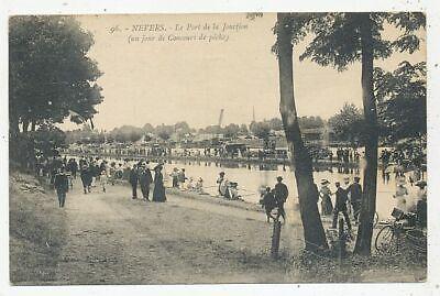 CPA PK AK FRANCE 58 NEVERS CONCOURS DE PÊCHE PONT DE LA JONCTION 1923
