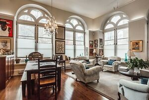Stunning, luxury, 3 bedroom on quiet street in Old Montreal