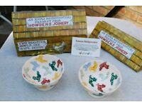 Emma bridgewater pottery x2 rooster bowls