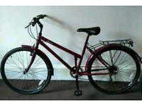 Ladies 26 Inch Hybrid Bike - CHALLENGE MEANDER - Purple 17 inch frame