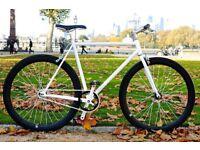 Brand new TEMAN single speed fixed gear fixie bike/ road bike/ bicycles + 1year warranty eeeo