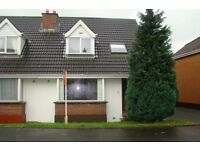 3 bedroom semi detached house available 1st July to let