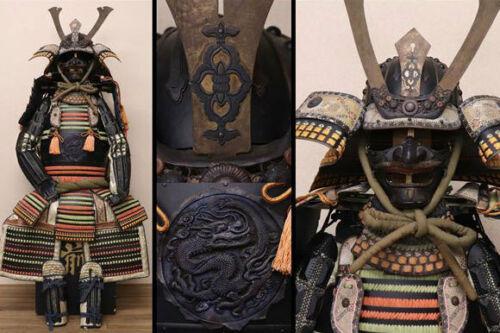 Japanese antique samurai armor busho yoroi kabuto/ edo vintage MZ
