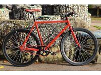 Brand new TEMAN single speed fixed gear fixie bike/ road bike/ bicycles + 1year warranty eee7