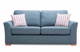Vixx 3 DFS, Three Seater sky colour Sofa, as new hardly used for sale, £140 ono