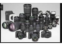 WANTED DSLR CAMERAS AND LENSES