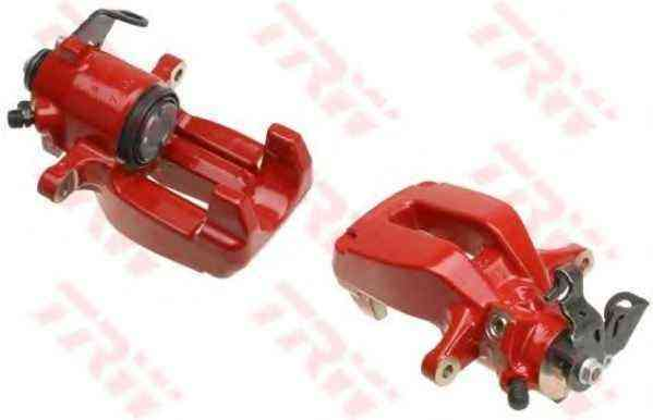 RENAULT CLIO MEGANE SPORT PASSENGER LH REAR BRAKE CALIPER GENUINE NEW RED