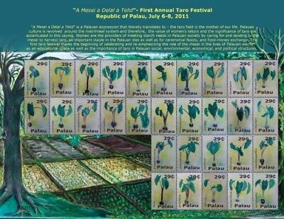 PALAU - 2011 - FIRST ANNUAL TARO FESTIVAL SHEET OF 30 STAMPS MNH