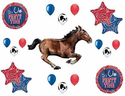 Western Themed Birthday Party (Western Theme Birthday Party Supplies Bandana Hoedown Rodeo Balloon Bouquet)