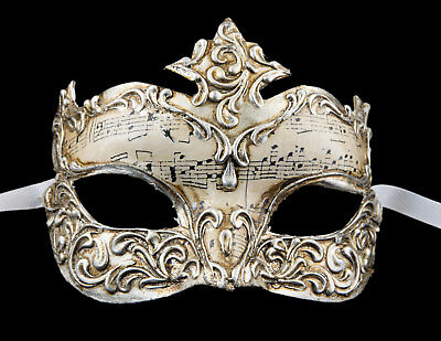 Mask from Venice Baroque Ségur Silver in Paper Silver 1973 VG3F