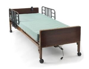Drive Medical Fully Electric Hospital Bed with Mattress, Rails