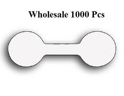 LOT OF 1000 WHITE PRICE TAGS JEWELRY PRICING DISPLAYS TAGS CHAIN TAGS PRICE TAGS
