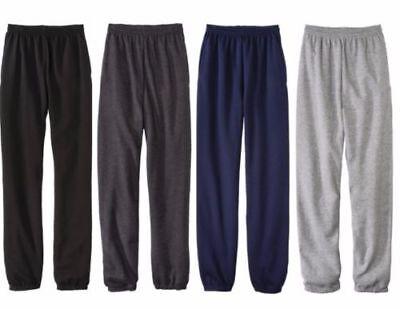 New Fruit Of The Loom Fleece Elastic Sweat Pant Men's Black Blue Grey & Navy Sz