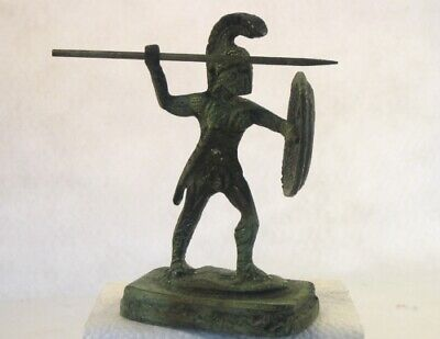 Leonidas the Spartan King, leader of the 300 Greek Bronze Statue READ DETAILS