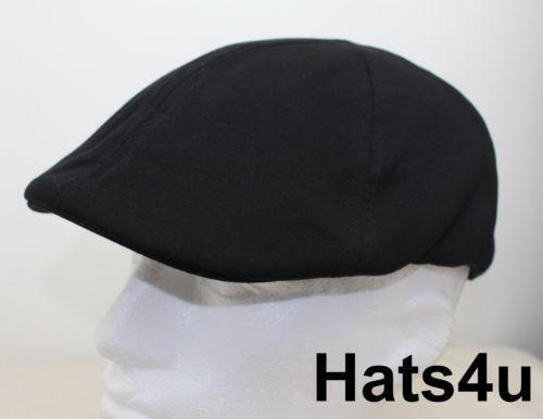 Black Flat Cap Hats Ebay
