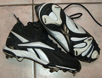 Reebok Protocol Mid Black Baseball Cleats