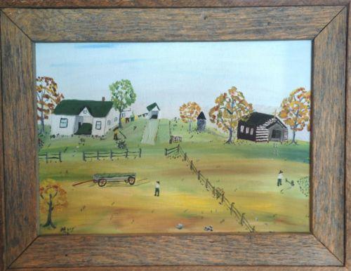Ebay Amish Painting On Glass