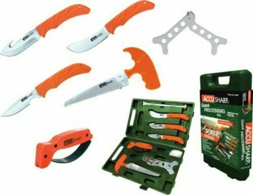 Accusharp Game Processing Kit Complete 9 Piece Kit with Carry Case 728C