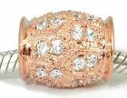 Cubic Zirconia Rose Gold European Charm Bracelets