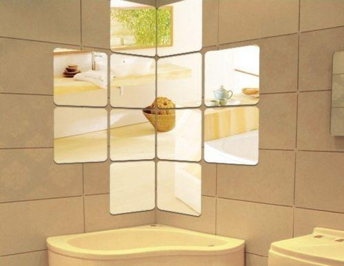 mirror tiles for bathroom modern wall mirror decor ebay 19498