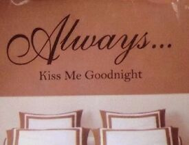 'kiss me goodnight' wall sticker