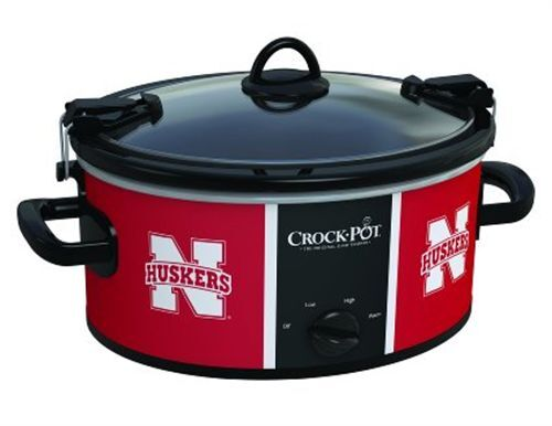 Crock-Pot SCCPNCAA600-UNB Cook and Carry University of Nebraska 6-Qt. Slow Cooker Red/White