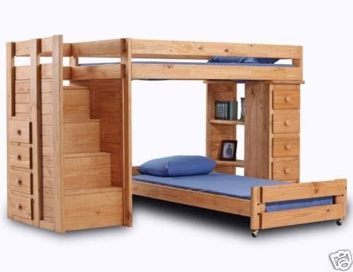 loft bunk bed wood ebay